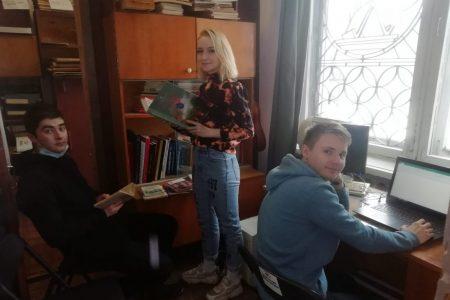 Студенты практиканты в музее